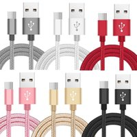 Wholesale alloy phone online - Top quality m m m ft ft Type c Usb c alloy braided A fast charging usb cable cables adapter for samsung s8 note android phone