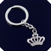 nuovo-fashion-men-30mm-keychain-DIY-metal-holder-catena-vintage-imperiale-royal-crown-22-18mm-chiave d'argento
