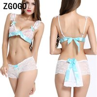 Wholesale Hot Sex Woman Top - sexy lingerie intimates slips sexy costumes women hot white lace sex products high quality lace top bra+pant nightown underwear