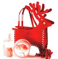 lagerboxen zum verkauf großhandel-Heißer Verkaufs-Weihnachtsrotwild-Pralinen-Kasten-Weihnachtsdekoration-Weihnachtssüßigkeit bauscht reizende Geschenk-Strumpf für Kinder freies Verschiffen B0889