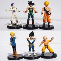 Wholesale gotenks action figure resale online - 6Pcs set Dragon Ball Z Figures DragonBall Son goku Gogeta Gotenks PVC Action Figure Collectable Model Toy