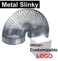 Wholesale Slinky Wholesale - Scientific Metal Slinky Magic Rainbow spring Mini Slinky Coil Springs Wave Form Helix kids toys wholesale (Customizable LOGO)