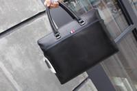 Wholesale Leather Briefcase Cowhide Mens - Top High Quality Mens briefcase Business bag Original Cowhide Laptop Handbag,Mens Work tote fast post leather shoulder bag model 146203324
