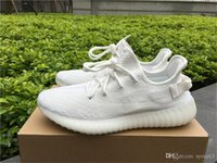 Wholesale With shoes Box boost V2 Cream White Bred Zebra Triple White Core black red Belgua V2 kanye west Running shoes