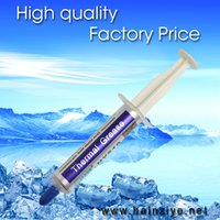 Wholesale Thermal Paste Free - Wholesale- free shipping Halnziye HY510 5g best cost effective gray grease compound paste thermal conductive material