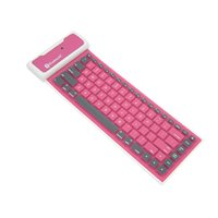 Wholesale Wireless Flexible Keyboards - Wireless Bluetooth Flexible Foldable Keyboard Tensile USB Cable Universal For Smartphones With 4 Colors