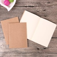 Wholesale Paper Cover Notepad - Wholesale- 1PC Vintage Cover Cowhide Paper Notebook Blank Notepad Soft Copybook Journal Notebooks Stationery