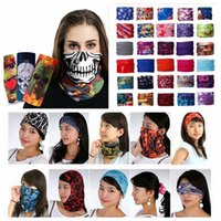 Wholesale bike headbands for sale - Group buy 205 Styls bike motorcycle helmet face mask half mask Headwear Neck cycling pirate headband hat cap halloween mask pirate kerchief YYA434
