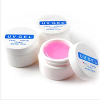 Wholesale Clear Color Uv Gel - Wholesale-New Arrival 1PCS Pink  White  Clear Transparent 3 Color Options UV Gel Builder Nail Art Tips Gel Nail Manicure Extension