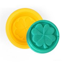 Wholesale 500pcs Four Leaf Clover Flower Cake Mold Silicone Handmade Soap Mold D Soap Molds DIY Crafts Mold Baking Tools ZA0588 DHL
