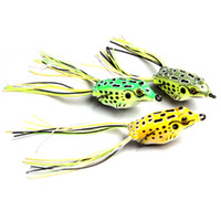 Wholesale Hard Lure Bodies - Wholesale Fishing Lures Hollow Body Frog Lure Weedless Topwater Kit 14g free shipping