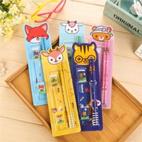 Wholesale Cartoon stationery suit children stationery gift creative cartoon primary school students five in one school supplies set
