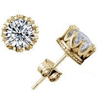 Wholesale Gold Earring Neutral Retro Platinum Jewelry Silver Crown Earrings