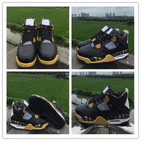 Wholesale Height Increasing Shoes Size 13 - New 4 Gold Medal Basketball Shoes for Top quality Men Shoes 4s Basketball Shoe Sports Training Sneakers Size 7-13