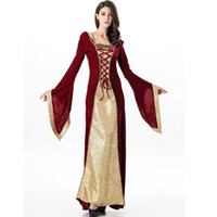 Wholesale Fashion Show Movies - Royal Banquet Costume Film And TV Shooting Clothes Villus Color Cosplay Stitching Fashion Show Clothing Party Uniforms