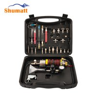 Wholesale fuel injector tools - Universal Auto Car Fuel System Air Intake Injector Cleaner Tester Machine Free Non-dismantle Bottle Kits Tool for Petrol Cars