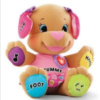 Wholesale Musical Dog Baby Toys - Wholesale- Lovely Dog Baby Cartoon Toys Musical 0-12 Month Toys Juguetes Bebe Toy Singing English Songs Learning&Education Puppy Toys