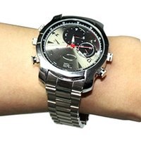 Wholesale 32gb Watch Spy Camera Hd - 8GB 16GB 32GB Waterproof Spy Watch Hidden Camera Motion Detection Night Vision IR HD Hidden Watch Cam Micro HD Camera Watch DVR