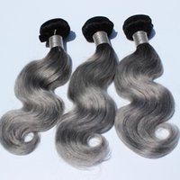Wholesale Wholesale Hair Websites - ombre gray ombre Human hair bundles body wave 8-30inch 3pcs overnight shipping dhl hair weave websites gray ombre hair boundles weft