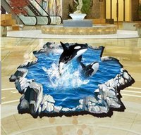 Dolphin Adesivi 3D parete murale fai da te hotel wall sticker home decor carta di parete materiale PVC removibile