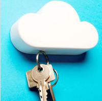 neuheit magnetschlüsselhalter großhandel-2017 Magnetische Schlüsselanhänger Halter Neuheit Mode Kreative wolkenförmigen Hause Wand Schlüsselanhänger Aufhänger 2 farbe DHL