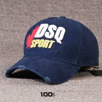 Wholesale Tennis Balls Brands - DSQ brand baseball cap classic & new foreign trade full cotton duck cap embroidered tennis cap European and American Europe and America