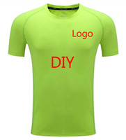 Wholesale clothes xs - 2017 Short Sleeve men Custom Logo Team customization Men's Sport Running Shirt Quick Dry TShirt Men Gym Clothing Sportswear
