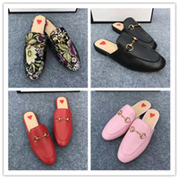 Wholesale Red Mop Sexy - 2017 Fall Genuine Leather Loafers Casual Women Shoes Flats Slip On Sexy Street Style Ladies Shoes Luxury design Woman Summer Slippers