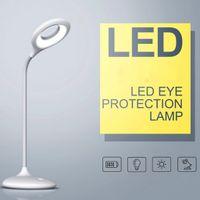 ingrosso lampada del port del usb-Lampada Ufficio ricaricabile LED con 3 livelli dimmerabili, 3W cordless Desk Lamp con porta USB - Bianco