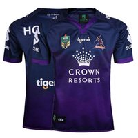 Wholesale 2017 Melbourne storm rugby jerseys home Storm rugby shirts Men shirts top quality rugby shirts size S XXXL