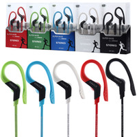 Wholesale Earhook Mic - Sports headphones earphone with mic Running in ear earhook Music Stereo Headset Sports-Fi Universal earphones for samsung xiaomi cell phone