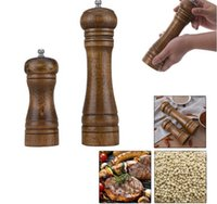 Wholesale Wooden Salt Pepper Grinders - Wooden Salt & Pepper Grinders Salt And Pepper & Spice Grinders Mills Manual Pepper Mill 2 Sizes Creative Kitchen Tools