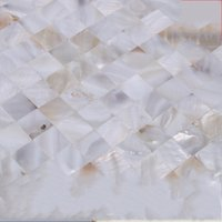 Wholesale Glazed Tiles - Ceramic Tile Background wall Glazed Tiles Hand Washing Table Mosaic Vitrolite Bathroom Balcony Shower Room Mosaics Natural Shell 38jc C