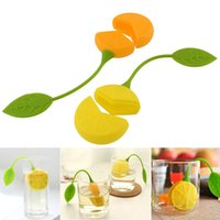 Wholesale Hot Lemon Tea - Free Shipping Silicone Teabag Tea Strainer Infuser Teapot Teacup Filter Bag Lemon Style Hot Sales Cheap Price