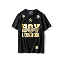 Wholesale T Shirt Eagle Women - 1205 Eagle Hip Hop moleton masculino Casual Boy London shirt Golden Women Mens clothing Pullover Stars British t shirt Skulls mens S-XXXL