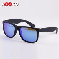 Wholesale Sunglasses Justin - AOOKO Polarized Justin Sunglasses UV400 Men Women Draving Brand Designer Fashion Mirror Sun Glasses