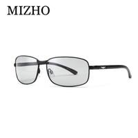 Wholesale Transparent Polarized Glasses - Wholesale- MIZHO HD All-weather Snow light Photochromic Sunglasses Men Polarized Night Vision Rectangle Glasses For Men Transparent