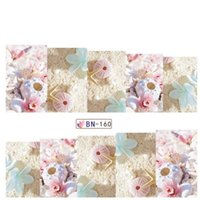 Wholesale Love Design Beauty - Wholesale- Full Beauty 1 Sheets 2016 Latest Nail Decals Water Transfer Summer Love Sea Star Sanding Designs for Manicure Sticker BN160