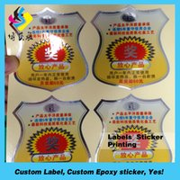 Wholesale Wholesale Custom Die Cut Stickers - Colorful rotary printing adhesive PVC label, outdoor use die cutting transparent sticker