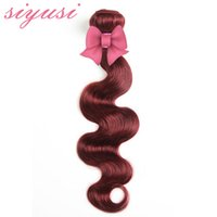 Wholesale Burgundy Peruvian Hair Weave Bundles Red Wine Burgundy Weave J Color Human Hair Bundles Peruvian Body Wave No Tangle