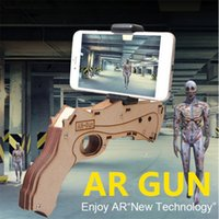 Wholesale Holder Guns - 2017 Augmented Reality AR GUN For 3D VR Games Toy Gun Game DIY for iPhone 7 7PLUS Android IOS with Mobile Phone Holder