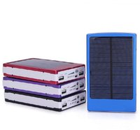 Wholesale External Laptop Chargers - Wholesale - 30000mAh Solar charger Battery Panel external Dual 30000 mah solar Charging with led Ports 5 colors choose for Laptop phone6