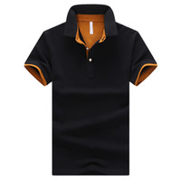 Wholesale Business Polo Shirt - Brands Mens POLO Shirts 95% Cotton Business Short Sleeve Polo Solid Color Jersey Male Casual Polo Shirt Big Size 4XL 9 Colors