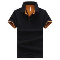 Wholesale Mens Business Cotton Shirt - Brands Mens POLO Shirts 95% Cotton Business Short Sleeve Polo Solid Color Jersey Male Casual Polo Shirt Big Size 4XL 9 Colors