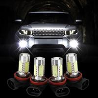 led otomatik h11 yüksek güç toptan satış-H11 7.5 W Yüksek Güç LED Ampul Araba Oto Işık Kaynağı Projektör DRL Sürüş Sis Far Lambası Xenon Beyaz DC12V araba-styling
