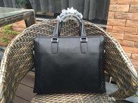 Wholesale Laptop Shoulder Bag Handle - Top High Quality Mens briefcase fashion Business bag Cowhide Laptop Handbag,Mens Work tote fast post leather shoulder bag model 122014943