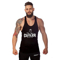 Wholesale Name Brands Clothing Wholesale - Wholesale- Big brand name Bodybuilding male muscle vest comfortable Cotton men's tank tops tight clothing