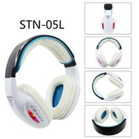Wholesale Dj Headphones Black High Performance - STN-05L Stereo Wireless LED Headphone Headsets Noise cancelling Bluetooth DJ Headphones High Performance with FM With Retail box