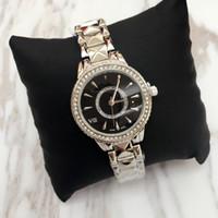 sehen preis japan großhandel-Spitzenentwurfs-Luxusfrauen passen edle weibliche Quarzstahlarmband-Kettenrose Kleid-Uhr der Dame mit Großhandelspreis Diamant Japan-Bewegung auf