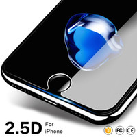 Wholesale Iphone Screen Protector Bag - For iPhone X Tempered Glass Screen Protector for iPhone Samsung HTC LG Huawei Blackberry with Paper Bag 100pcs up
